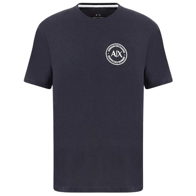 Tee-shirt bleu marine Armani Exchange logo