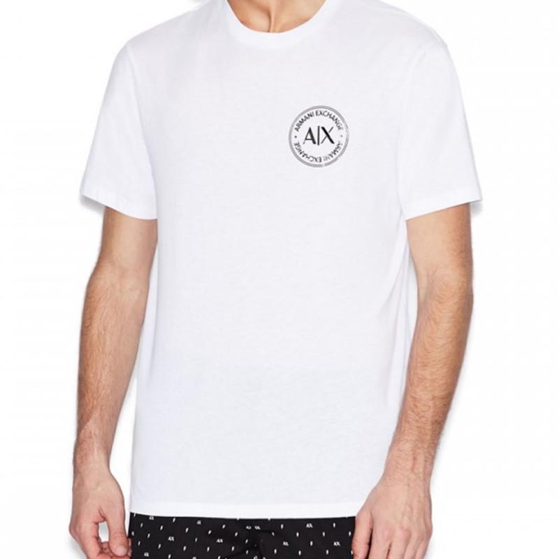 Tee-shirt blanc Armani Exchange logo
