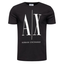Tee-shirt Logo Armani Exchange Noir
