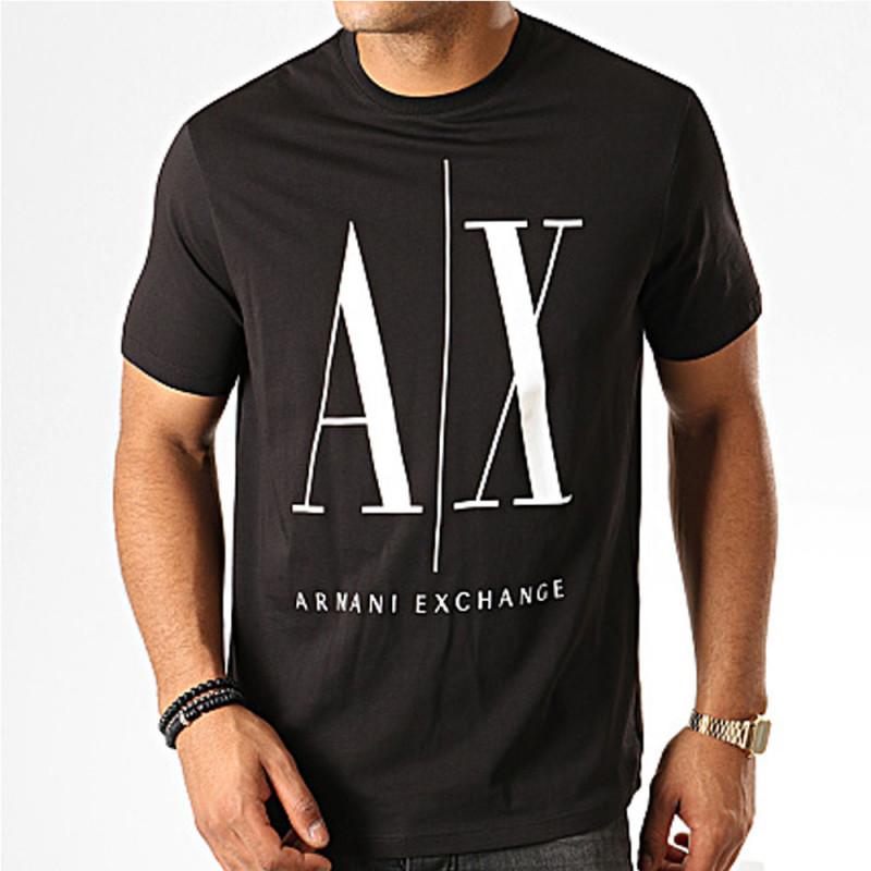 Tee-shirt Logo Armani Exchange Noir