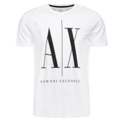 T-shirt Logo Armani Exchange Blanc