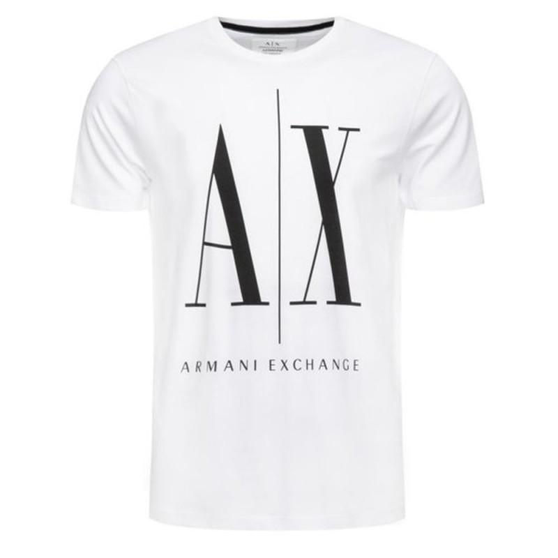 Tee-shirt Logo Armani Exchange Blanc