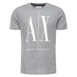Tee-shirt Logo Armani Exchange Gris