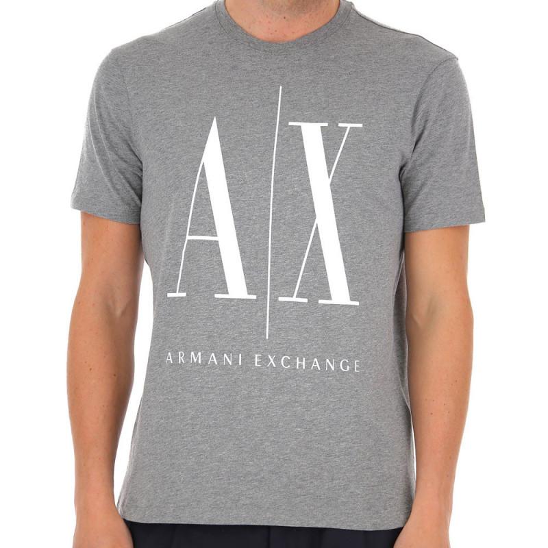 Tee-shirt Logo Armani Exchange Gris