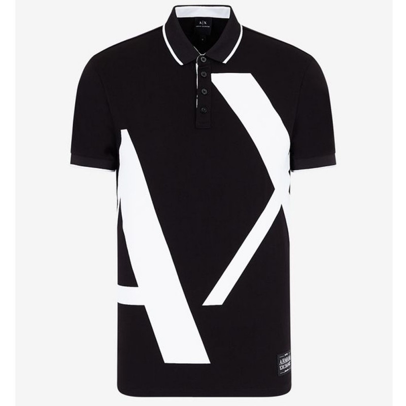 Polo Armani Exchange coupe slim Noir