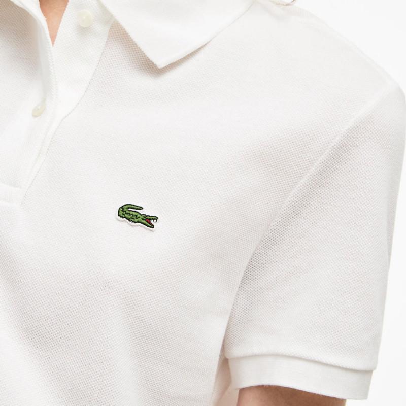 Polo Lacoste Femme Classic Fit  en coton souple Blanc