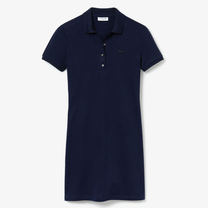 Robe polo Lacoste Femme Slim Fit Bleue marine