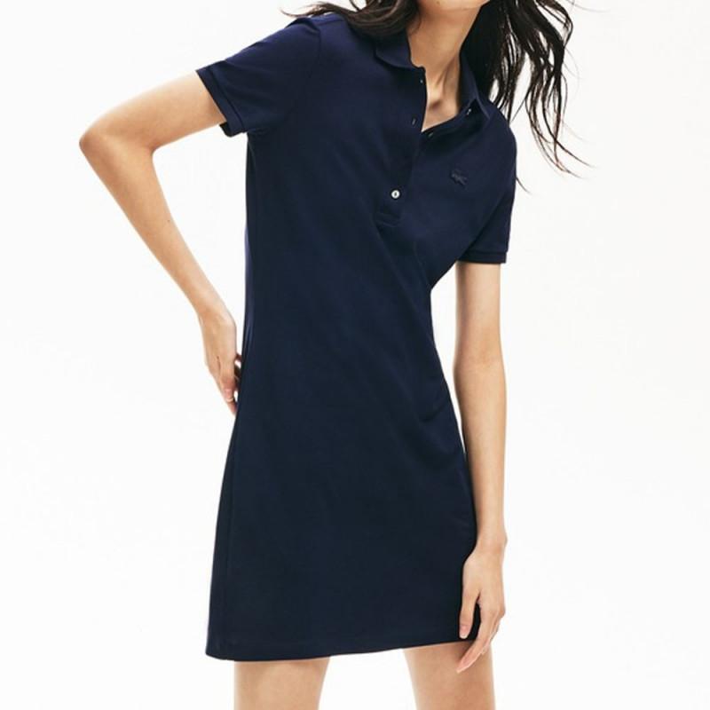 Robe polo Lacoste Femme Slim Fit Bleue marine