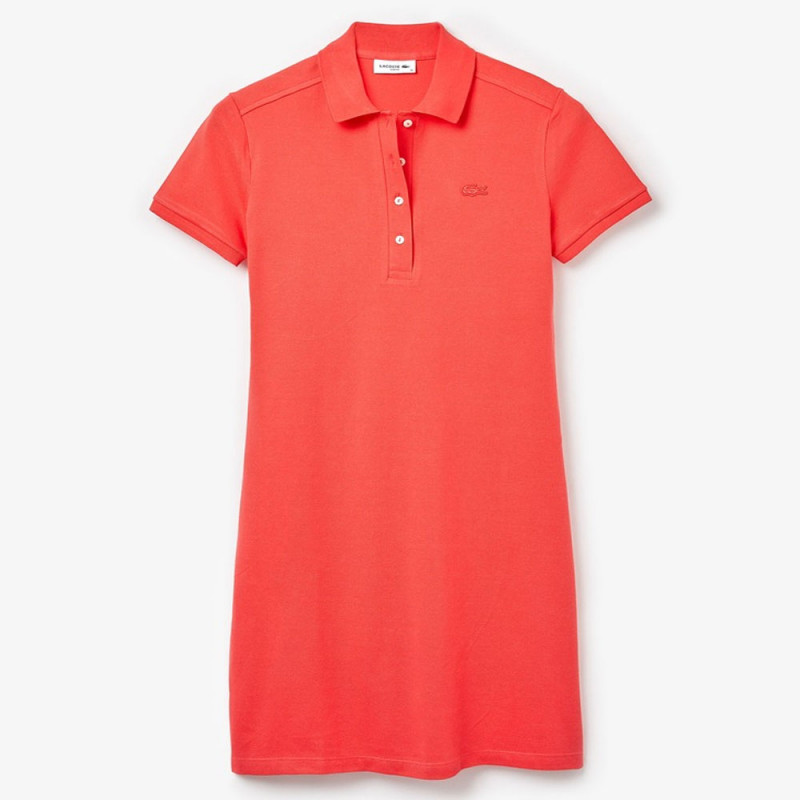 Robe polo Lacoste Femme Slim Fit Rouge