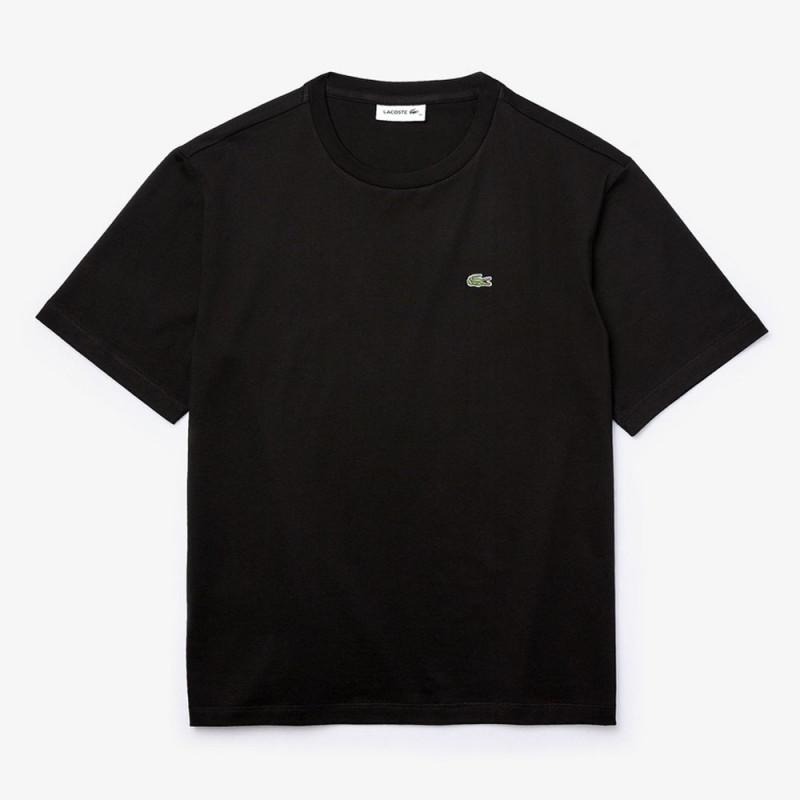 T-shirt Lacoste col rond en coton Premium