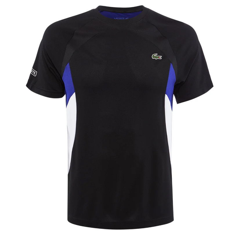 T-shirt à col rond Tennis Lacoste SPORT color-block respirant