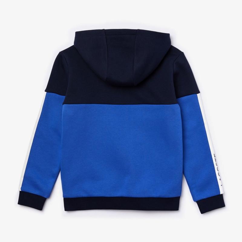Veste à capuche Garçon Lacoste SPORT color-block en molleton