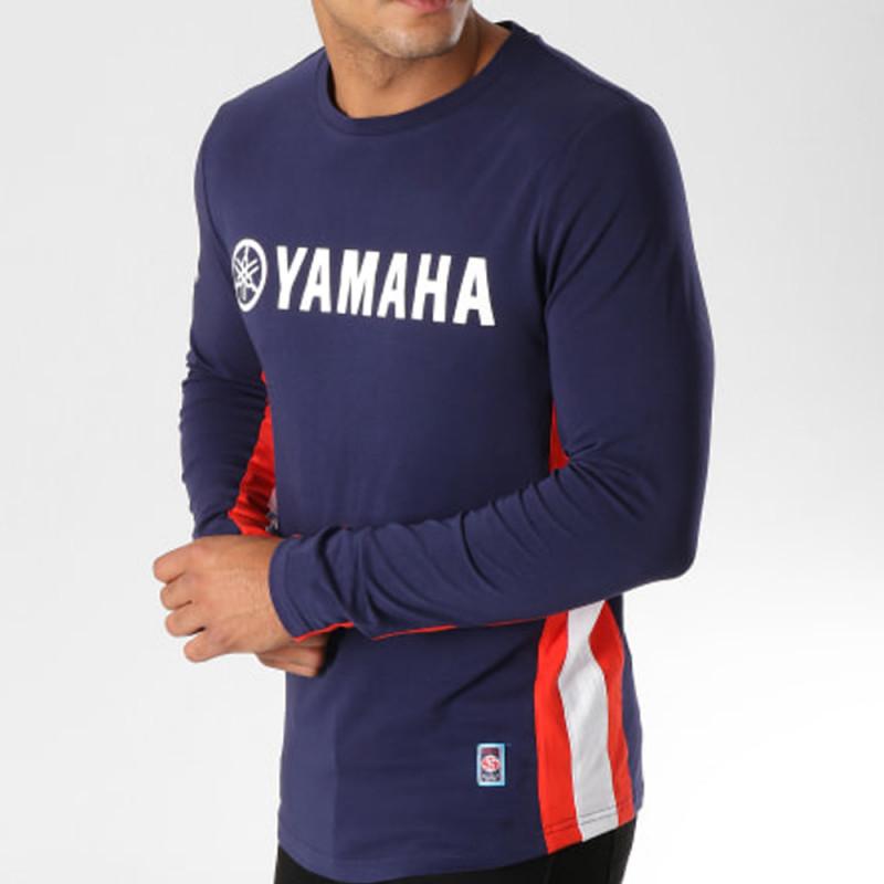 Tee Shirt Yamaha Manches Longues Avec Bandes