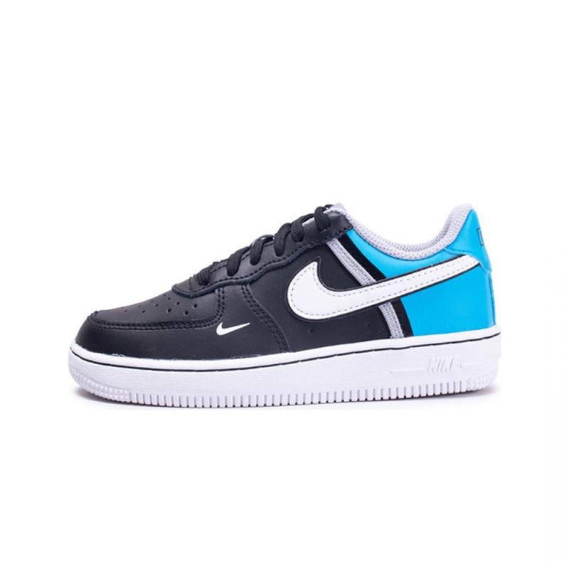 Nike Air Force 1 Pe Jr Gris Bleu pas cher Achat Vente