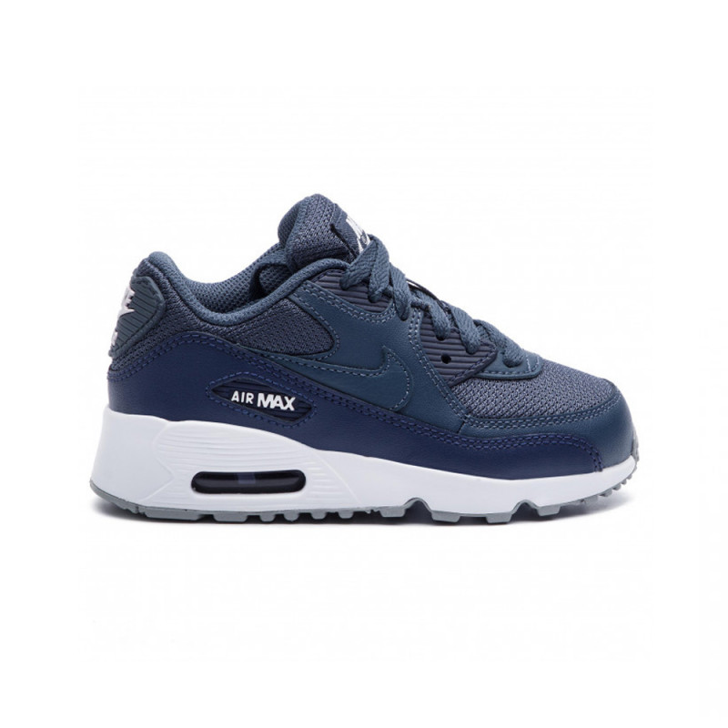 Basket Nike Air Max 90 Mesh Bleu (PS) Enfant