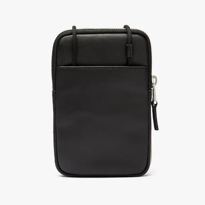 Mini sacoche Lacoste L.12.12 en cuir avec cordon tour de cou