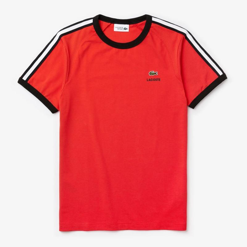 T-shirt Lacoste SPORT ultra léger avec détails contrastés Rouge