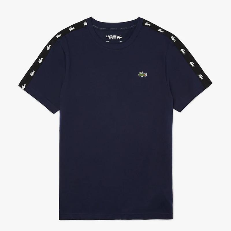 T-shirt Lacoste SPORT en piqué respirant avec bandes croco