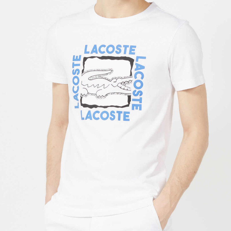 Tee Shirt Lacoste Sport Blanc