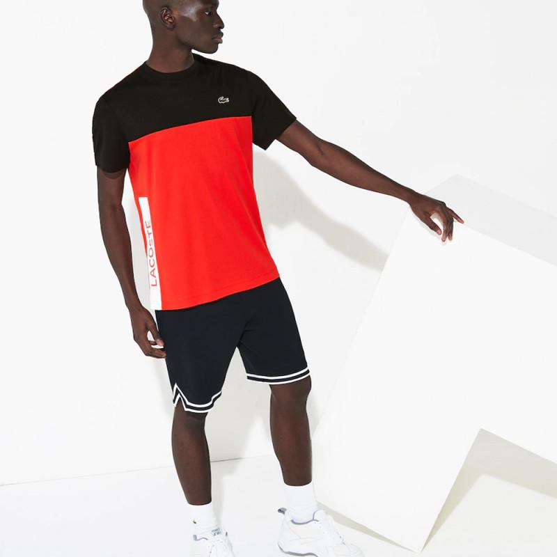 T-shirt Lacoste SPORT en piqué respirant color-block