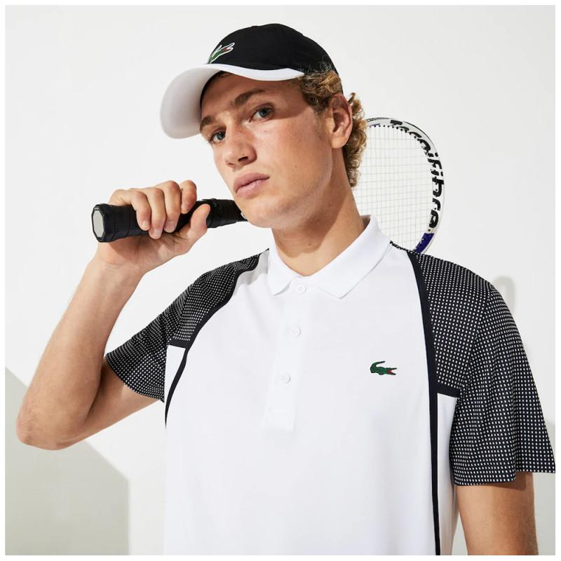 Polo Tennis Lacoste SPORT respirant avec manches effet mesh