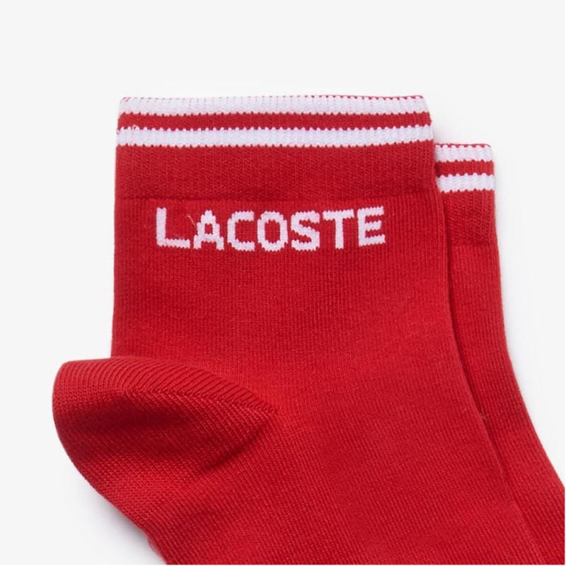 Lot de 2 paires de chaussettes Lacoste Rouge et blanche SPORT en jersey