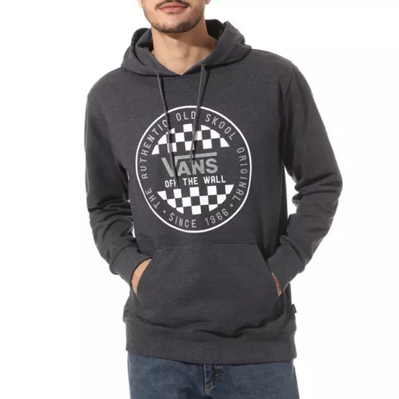 Sweat Vans à capuche OG Checker Gris Foncé