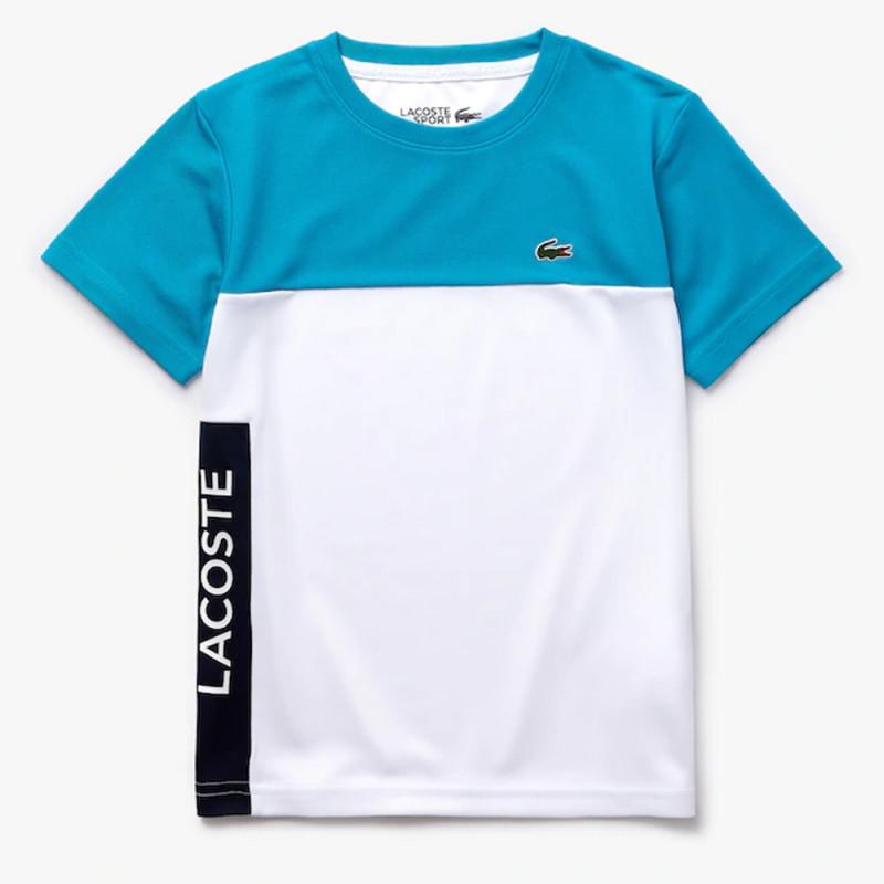 T-shirt Garçon Lacoste SPORT en piqué respirant color-block