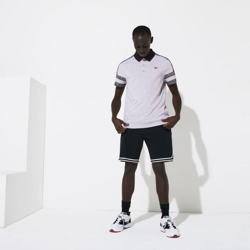 Polo Lacoste SPORT en coton ultra léger avec manches imprimées