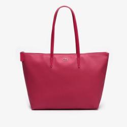 Sac cabas Lacoste rose zippé L.12.12 Concept uni