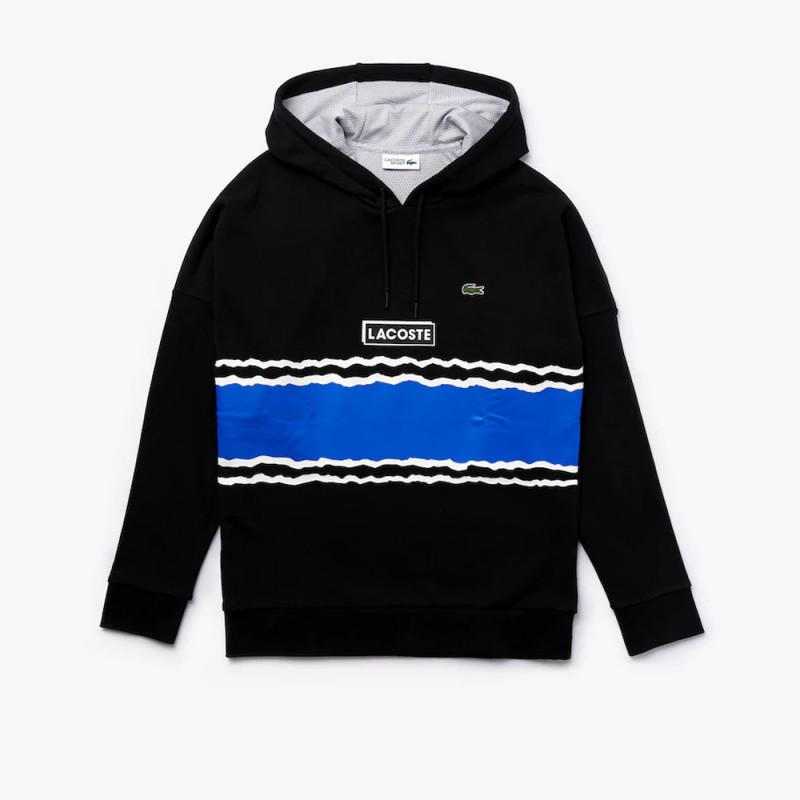 Sweatshirt à capuche Lacoste SPORT en molleton imprimé