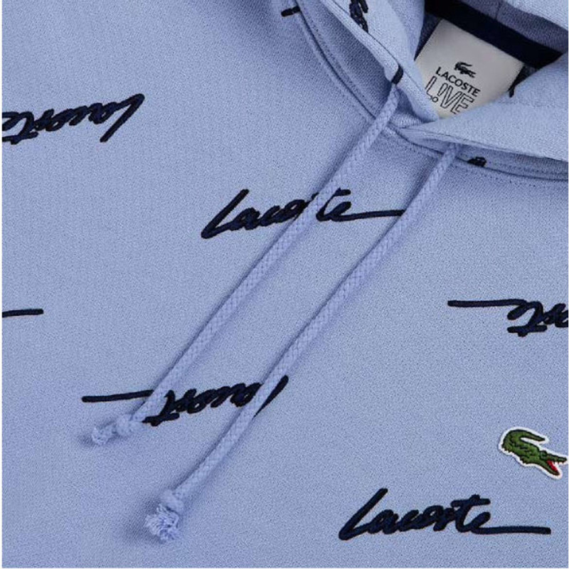 Sweatshirt à capuche Lacoste LIVE en molleton imprimé