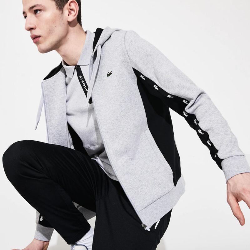 Sweatshirt à capuche Lacoste SPORT en molleton bicolore