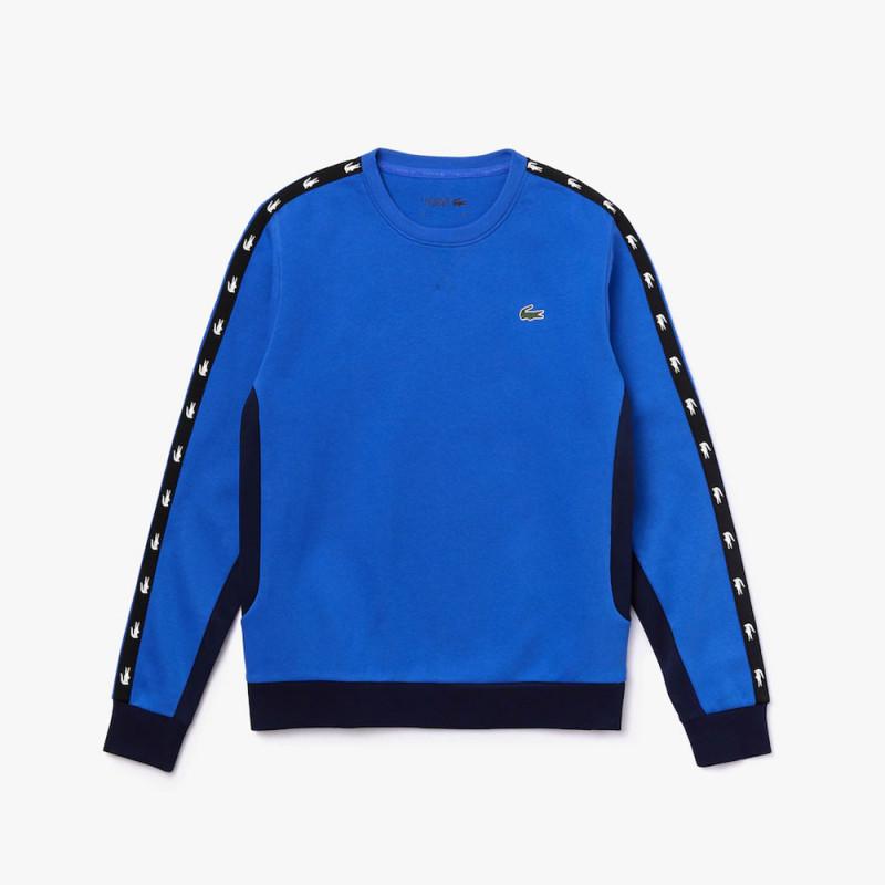 Sweatshirt à col rond Lacoste SPORT en molleton bicolore