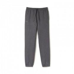 Pantalon de survêtement Tennis Lacoste SPORT gris fonce en molleton uni