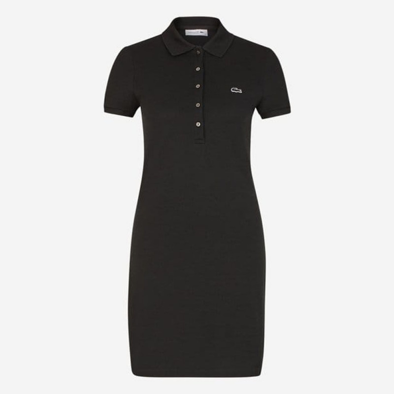 Robe polo slim courte stretch NOIR