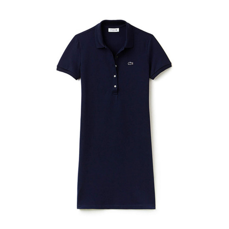 Robe polo slim courte stretch MARINE
