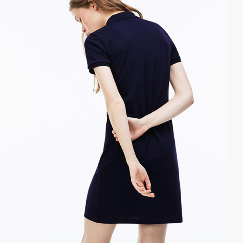 Robe polo slim courte stretch MARINE