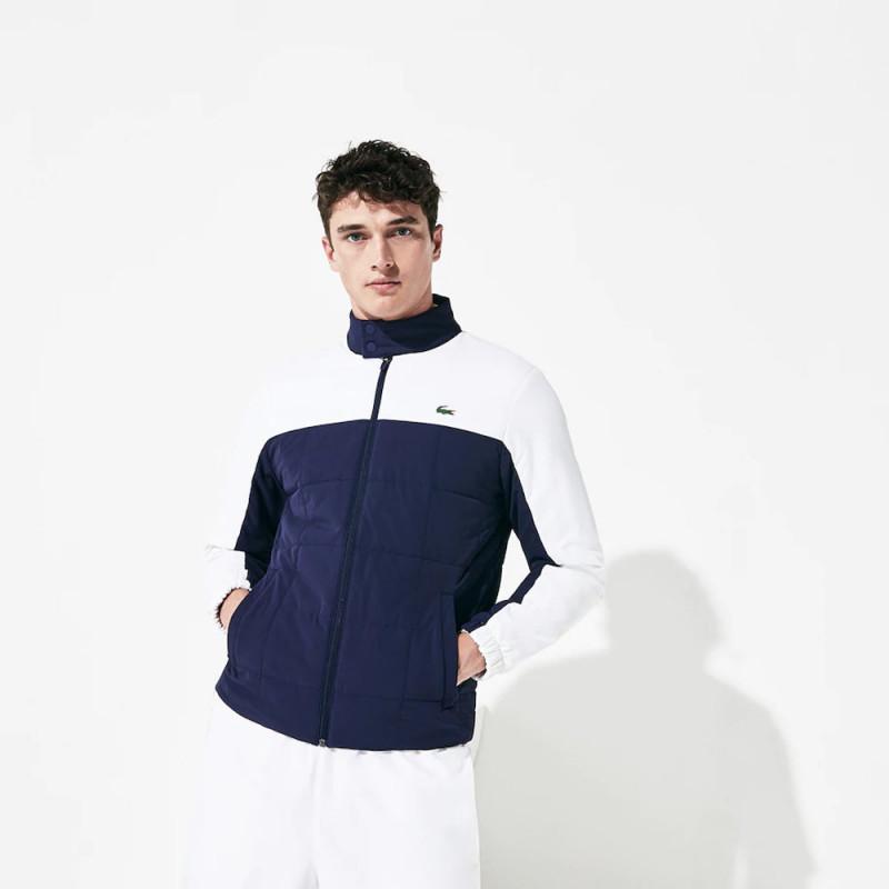 Veste zippée matelassée légère Lacoste Sport pour hommes