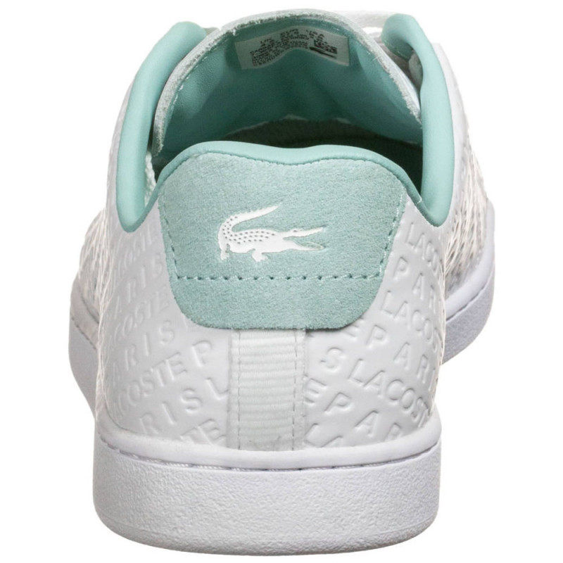Baskets Lacoste Carnaby Evo 120 3 SFA Blanc/Turquoise en cuir