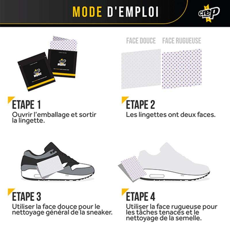 Crep Protect Lingettes nettoyantes pour chaussures - Lot de 12