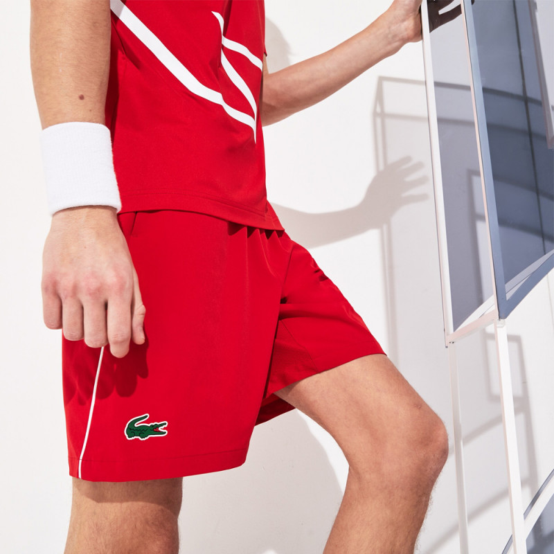 Short Tennis Lacoste SPORT Roland Garros x Novak Djokovic Red