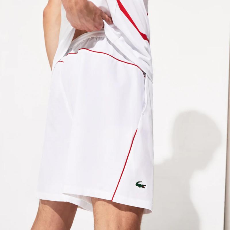 Short Tennis Lacoste SPORT Roland Garros x Novak Djokovic Blanc