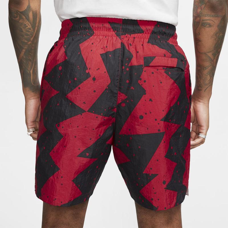 Short Nike Jordan Poolside noir/rouge