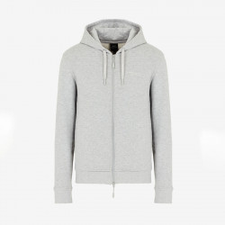 Sweat-shirt zippé gris clair Armani Exchange