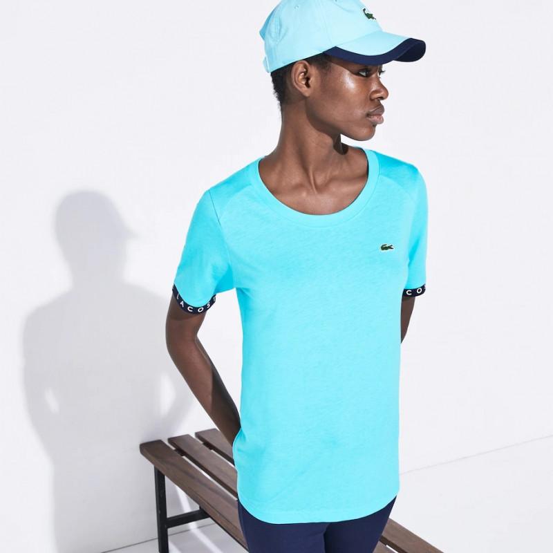 T-shirt Tennis Lacoste SPORT fluide avec manches siglées