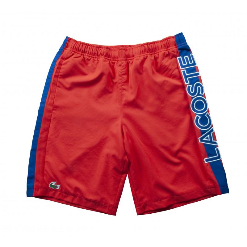 Short Tennis Lacoste Sport Rouge avec Bande Bleu Lacoste