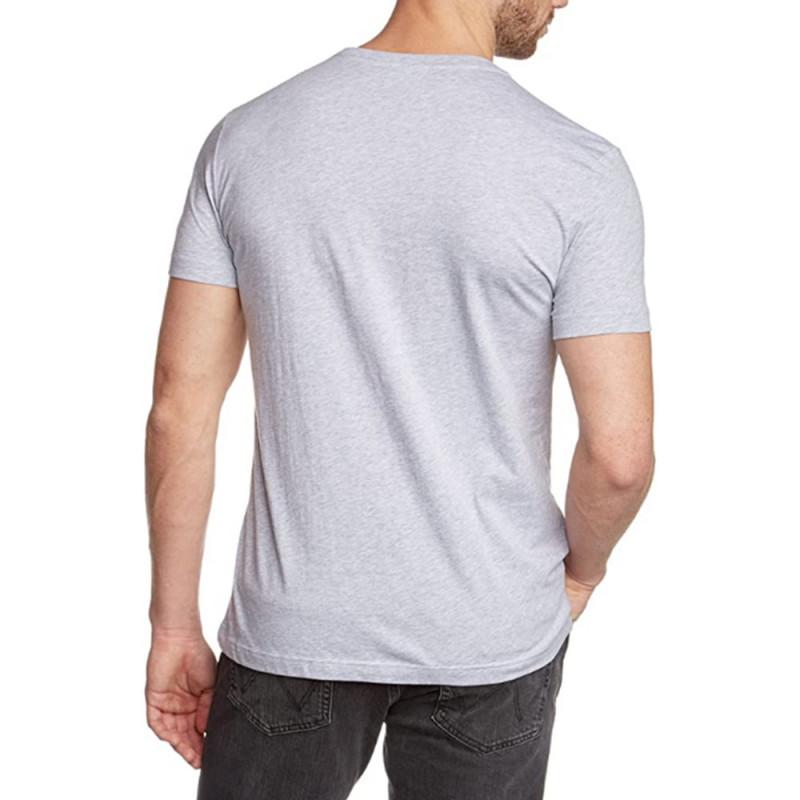 T-shirt Gris Lacoste en coton pima à col ras du cou CCA