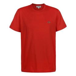 T-Shirt Lacoste en coton à col rond Rouge