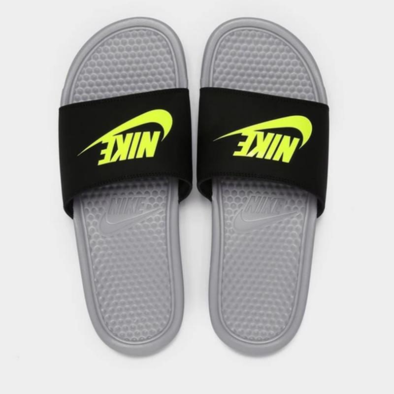 Claquettes Nike Benassi JDI Grise